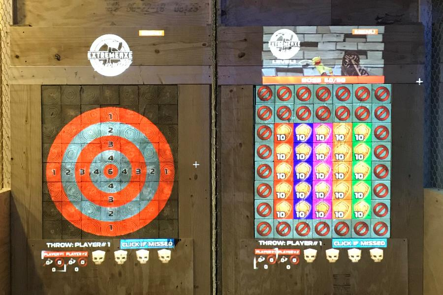 Interactive Axe Throwing Targets