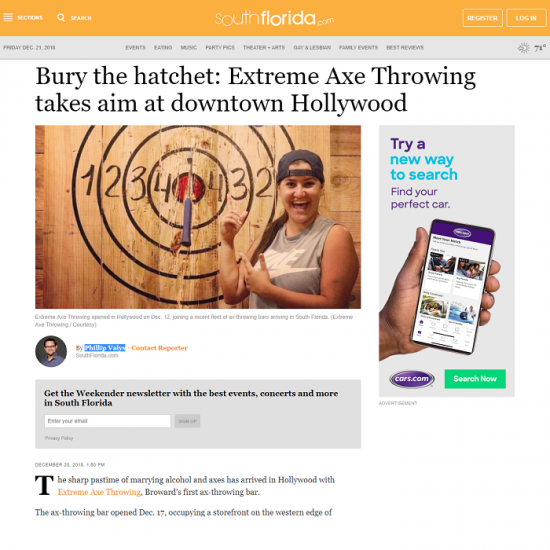 Southflorida.com - Extreme axe throwing
