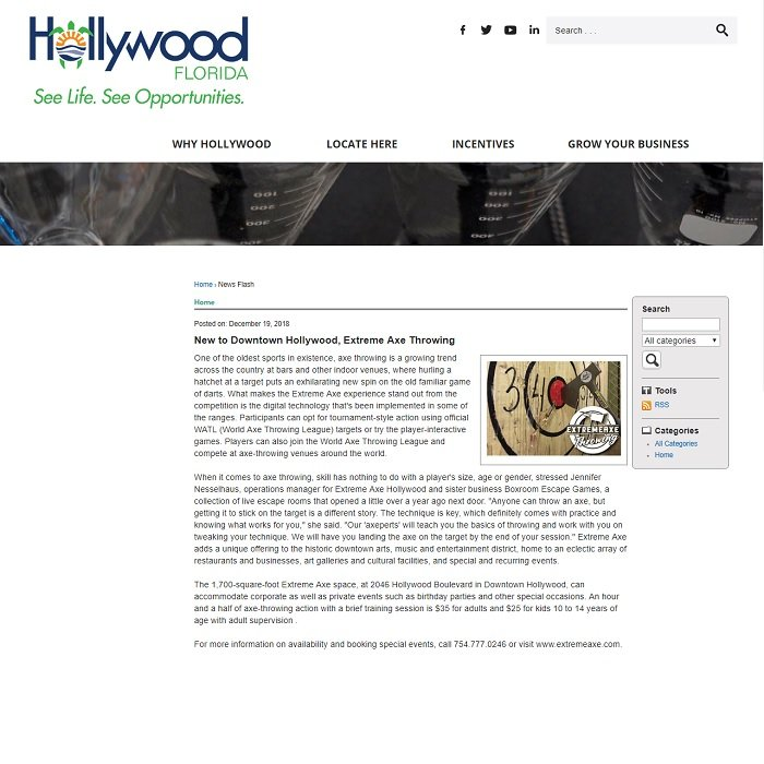 HOLLYWOOD ECONOMIC DEVELOPMENT, FL